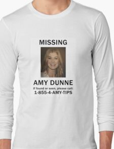 Amy Dunne Missing Poster Long Sleeve T-Shirt