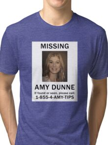 Amy Dunne Missing Poster Tri-blend T-Shirt