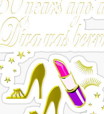 GOLD 60 & FABULOUS DAZZLING DIVA DESIGN Sticker