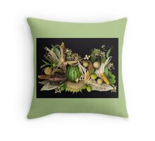 Gentle Harvest, Dudley Farm Gardens Throw Pillow