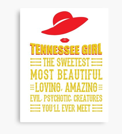 Tennessee Girl Canvas Print