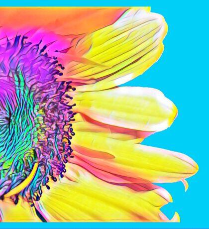 Abstract Sunflower Art Sticker
