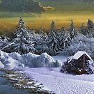 ' fantasy Christmas ' Oil. by CanyonWind