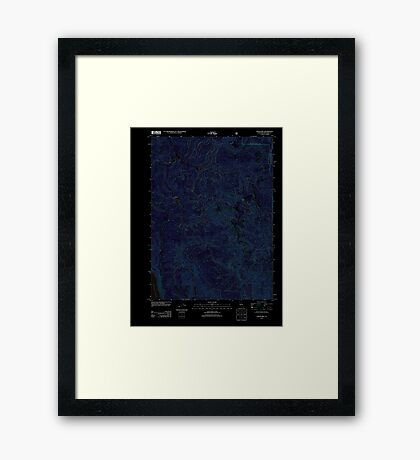 USGS TOPO Map California CA Childs Hill 20120217 TM geo Inverted Framed Print