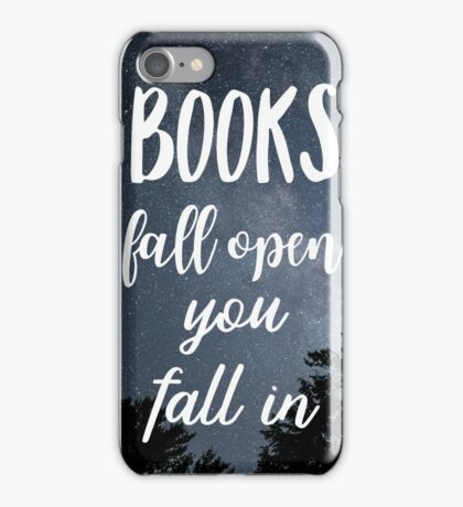 Books fall open you fall in. sky iPhone Case/Skin