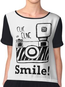 Smile For Camera - Photographer - Photo - Photography Gift Chiffon Top