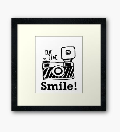 Smile For Camera - Photographer - Photo - Photography Gift Framed Print