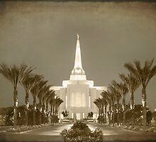 Gilbert Temple - Early Morning Antique hz 24x20 by Ken Fortie
