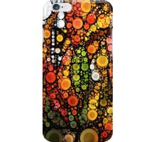 Fall Leaves and A White Moon iPhone Case/Skin