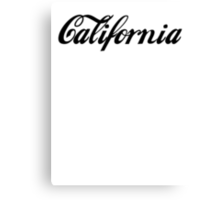 California Collection Canvas Print