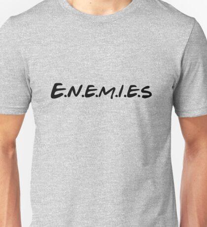 Enemies - Friends Parody Design Unisex T-Shirt
