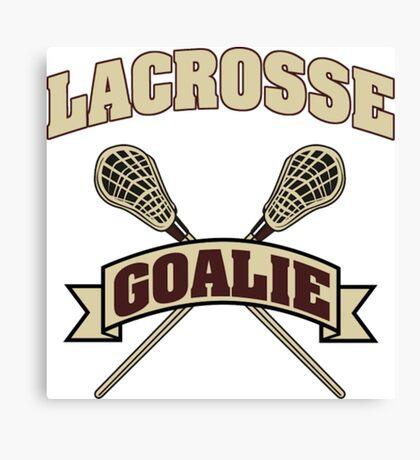 Lacrosse Goalie Dark Design- funny lacrosse shirts Canvas Print