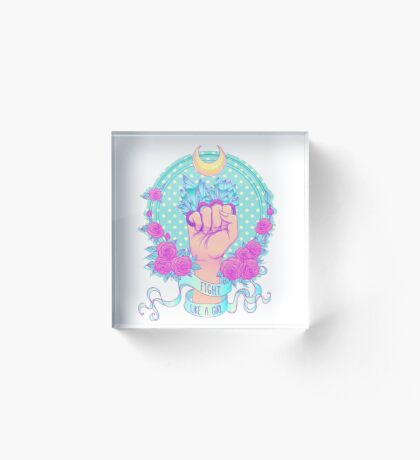 Fight Like A Girl Acrylic Block
