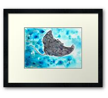 Man-T-Ray (in the blue) Framed Print