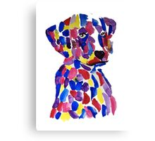 Colorful puppy Canvas Print
