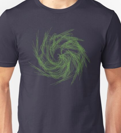 Swirling formation of emerald phoenix embers Unisex T-Shirt
