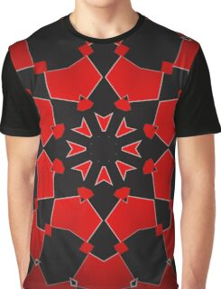 Red on Black Graphic T-Shirt