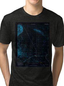 USGS TOPO Map California CA Plaster City 298575 1957 62500 geo Inverted Tri-blend T-Shirt