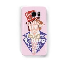 Willy Wonka And The Chocolate Factory Inspired Typography Samsung Galaxy Case/Skin