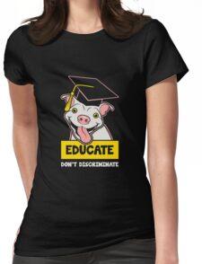 Educate Pitbulls copy Womens Fitted T-Shirt