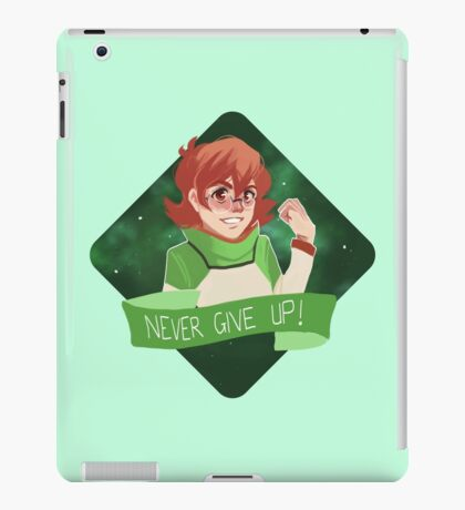 pidge says never give up! iPad Case/Skin