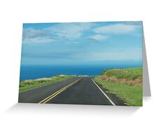Where will the road lead today? Greeting Card
