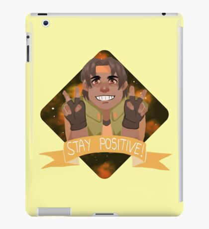 hunk wants you to stay positive! iPad Case/Skin