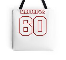 NFL Player Kevin Matthews sixty 60 Tote Bag