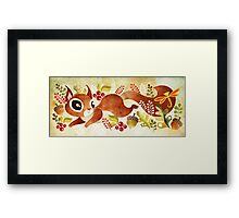 Playful Squirrel Framed Print