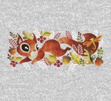 Playful Squirrel One Piece - Short Sleeve