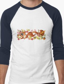 Playful Squirrel Men's Baseball ¾ T-Shirt