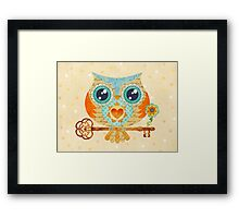 Owl's Summer Love Letters Framed Print