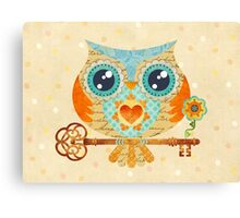 Owl's Summer Love Letters Canvas Print