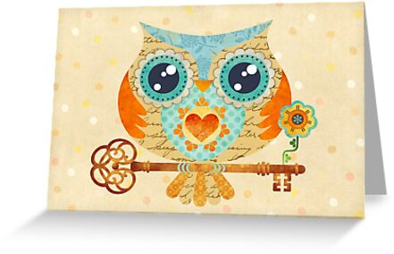 Owl's Summer Love Letters by sandygrafik