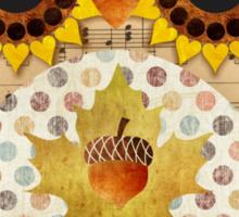 Owl's Autumn Song Sticker