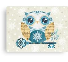 Winter Wonderland Owl Canvas Print