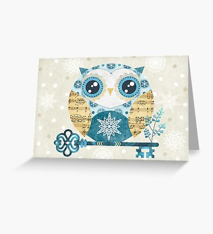 Winter Wonderland Owl Greeting Card