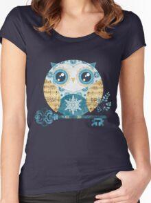 Winter Wonderland Owl Women's Fitted Scoop T-Shirt