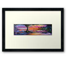 Lava Tube Fantasy- Warm and Cool Framed Print