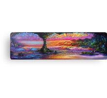 Lava Tube Fantasy- Warm and Cool Canvas Print