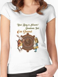 Alice & White Rabbit Vintage Dictionary Art Quote Women's Fitted Scoop T-Shirt