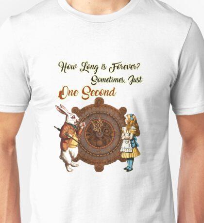 Alice & White Rabbit Vintage Dictionary Art Quote Unisex T-Shirt