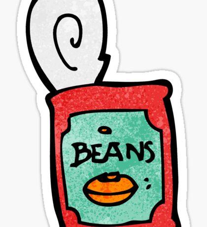 canned food cartoon Sticker