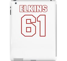 NFL Player Chris Elkins sixtyone 61 iPad Case/Skin