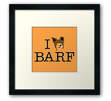 I Heart Barf Framed Print