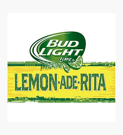 Sticker for Bud Light lemon ade rita by dianabronzo66 Photographic Print