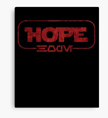 Hope (Aurebesh) Canvas Print