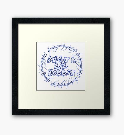 Just a lil hobbit Framed Print