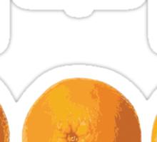 This Orange Thinks It's The New Black Sticker