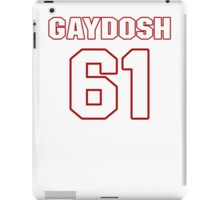 NFL Player Linden Gaydosh sixtyone 61 iPad Case/Skin